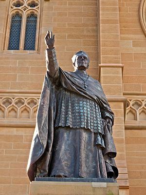 Patrick Francis Moran - Statue of Cardinal Moran at St Mary's Cathedral