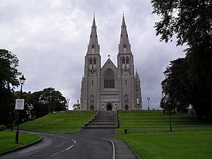 Religion in Northern Ireland - St Patrick's Cathedral, Armagh (Roman Catholic) is the seat of the head of the Roman Catholic Archdiocese of Armagh.