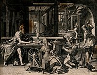 St. Paul is staying in the house of Aquila and his wife Pris Wellcome V0039575.jpg