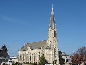 St. Vincent de Paul in Bedford, front and southern side horizontal.jpg
