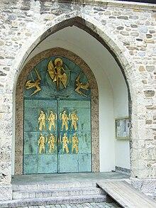 Saint-Maurice d'Agaune (portail de l'abbaye)