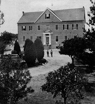 Loyola Marymount University - 2. St. Vincent's College, first building by Pershing Square, 1867