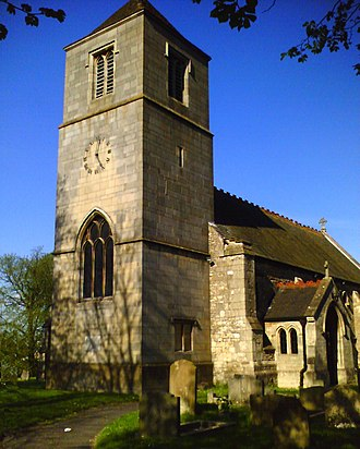 North Lincolnshire - Image: St Hybald's Church Tower, Hibaldstow