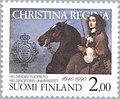 Stamp of Finland - 1990 - Colnect 47296 - Queen Christina founder on horseback.jpeg