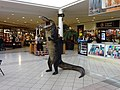 Standing alligator inside The Oaks Mall.JPG