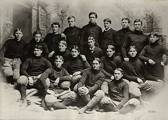 1894 Stanford football team - Image: Stanford football 1894