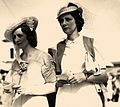StateLibQld 1 128751 Brenda Maguire and friend at the races, Brisbane, 1938 cropped.jpg