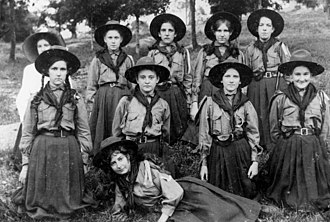 Scouting and Guiding in Queensland - Bayswater Girl Aids c. 1911