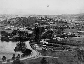 Bowen Hills, Queensland - View of Bowen Hills c. 1883