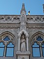 Statue of Francis of Assisi (1896), Matthias Church, 2016 Budapest.jpg