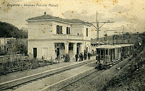 "Zagarolo - 1927 postcard of the Zagarolo train station ""Stazione Vicinale"""