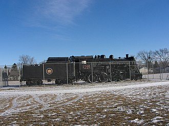 Transcona, Winnipeg - CNR 2747 was the first locomotive built in Western Canada, completed in the Transcona shop in April 1926.  Since May 1960 it has been on permanent display in Kiwanis Park, Transcona