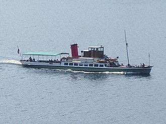 MY Lady of the Lake - Image: Steamer on Ullswater (198126919)