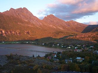 Steigen - View of the village of Nordskot