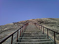 Steps leading to Bodhikonda hilltop.jpg
