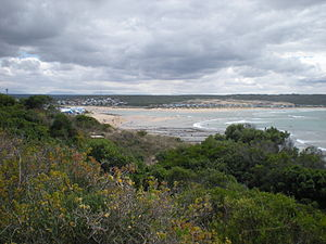 Stilbaai - Image: Stilbaai (Western Cape), with Goukou river