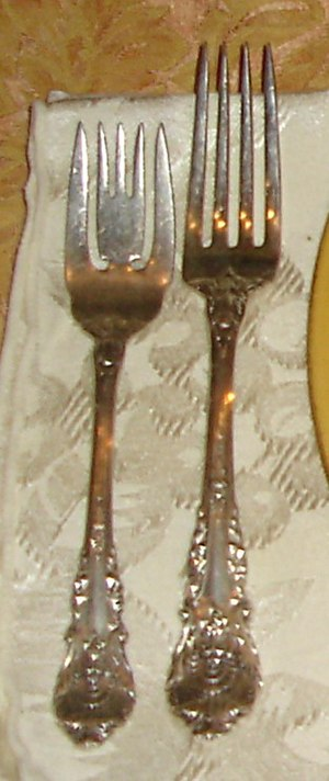 Sterling silver - Pair of sterling silver forks