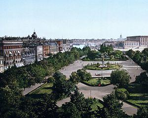 1894 in Sweden - Stockholm Kungsträdgårdsgatan (1890-1900)