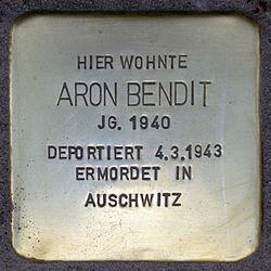 Photo of Aron Bendit brass plaque