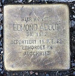 Stolperstein dortmunder str 9 (moabi) edmond adout