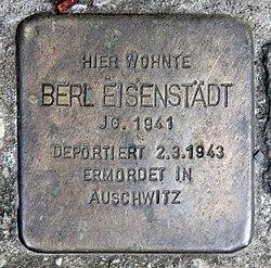 Photo of Berl Eisenstädt brass plaque