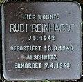 Stolperstein Göppingen-St. Gotthardt, Rudi Reinhardt.jpg