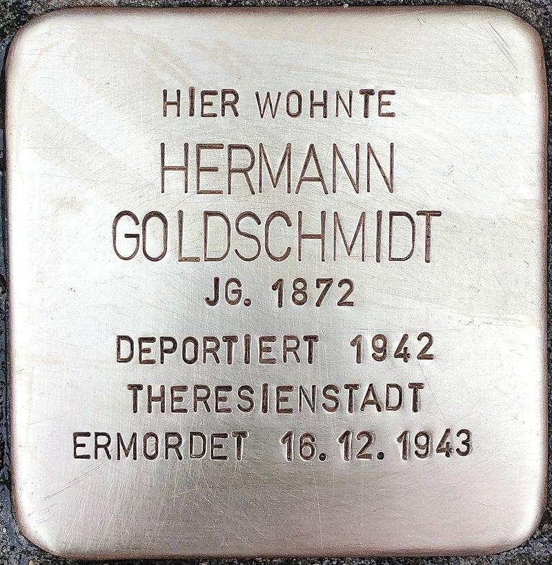 Stolperstein für Hermann Goldschmidt (Niederstraße 38)