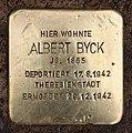 Stolperstein Kiefholzstr 181 (Baums) Albert Byck.jpg