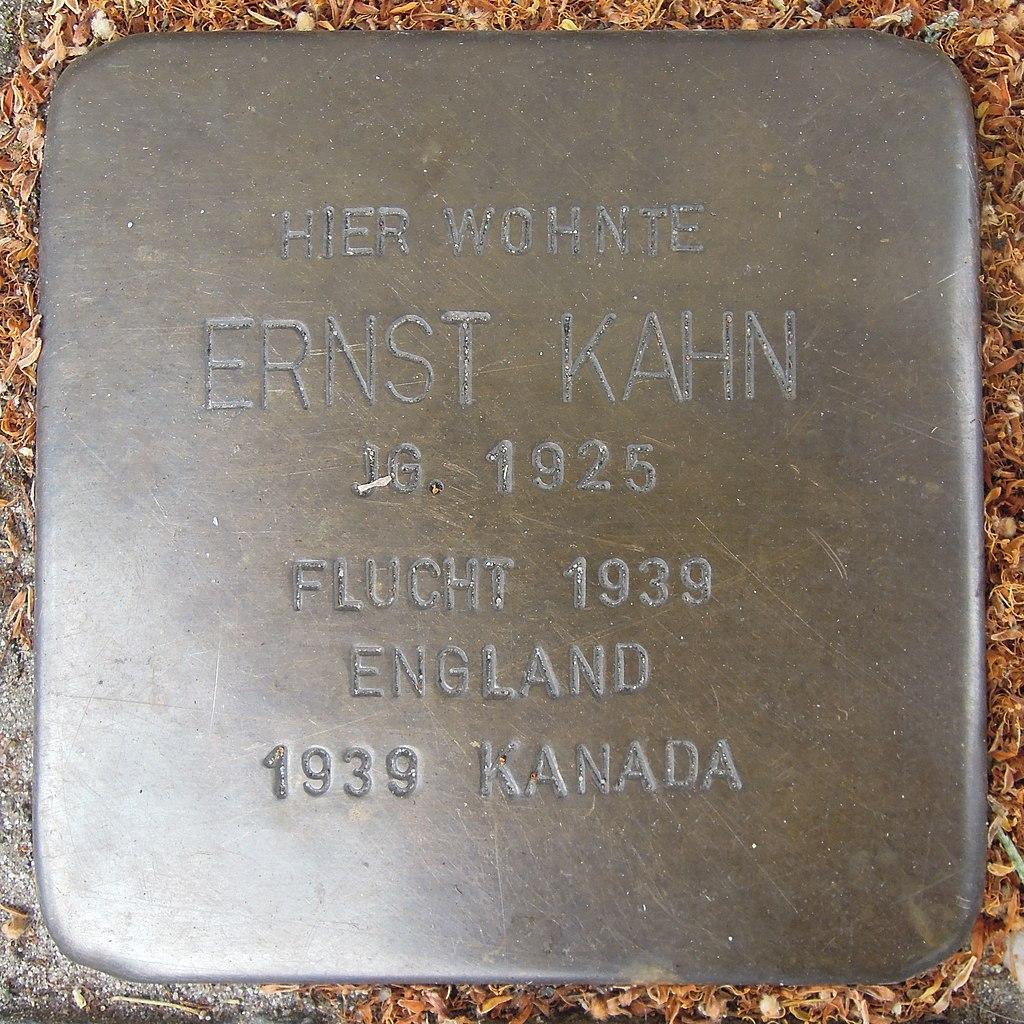 Stolperstein für Ernst Kahn