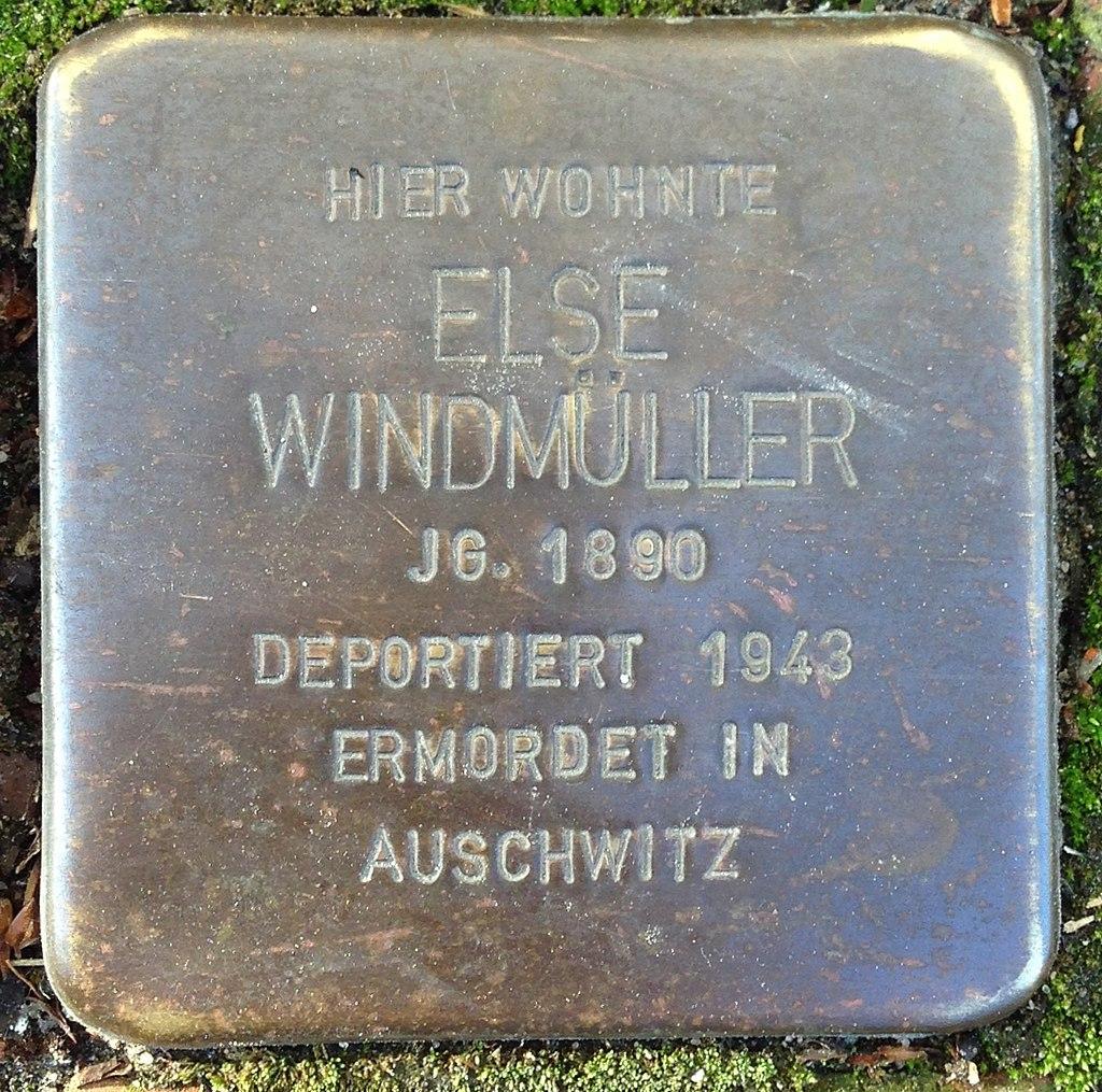 Stolperstein Rodenberg Lange Straße 23 Else Windmüller