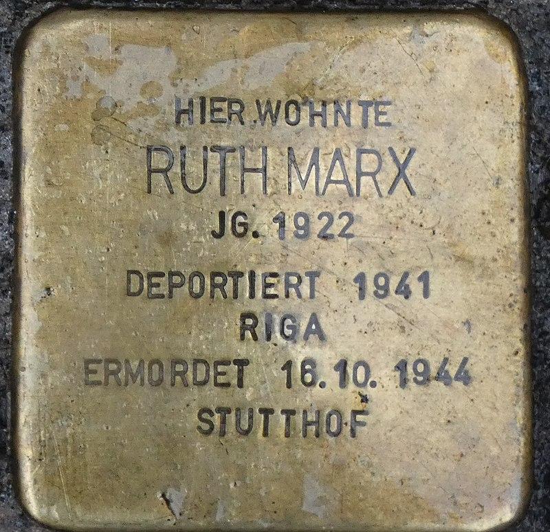 Stolperstein Ruth Marx, Gescher Hauptstraße 35.jpg
