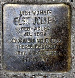 Photo of Else Jolles brass plaque