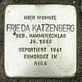 Stolperstein Verden - Frieda Katzenberg (1880).jpg