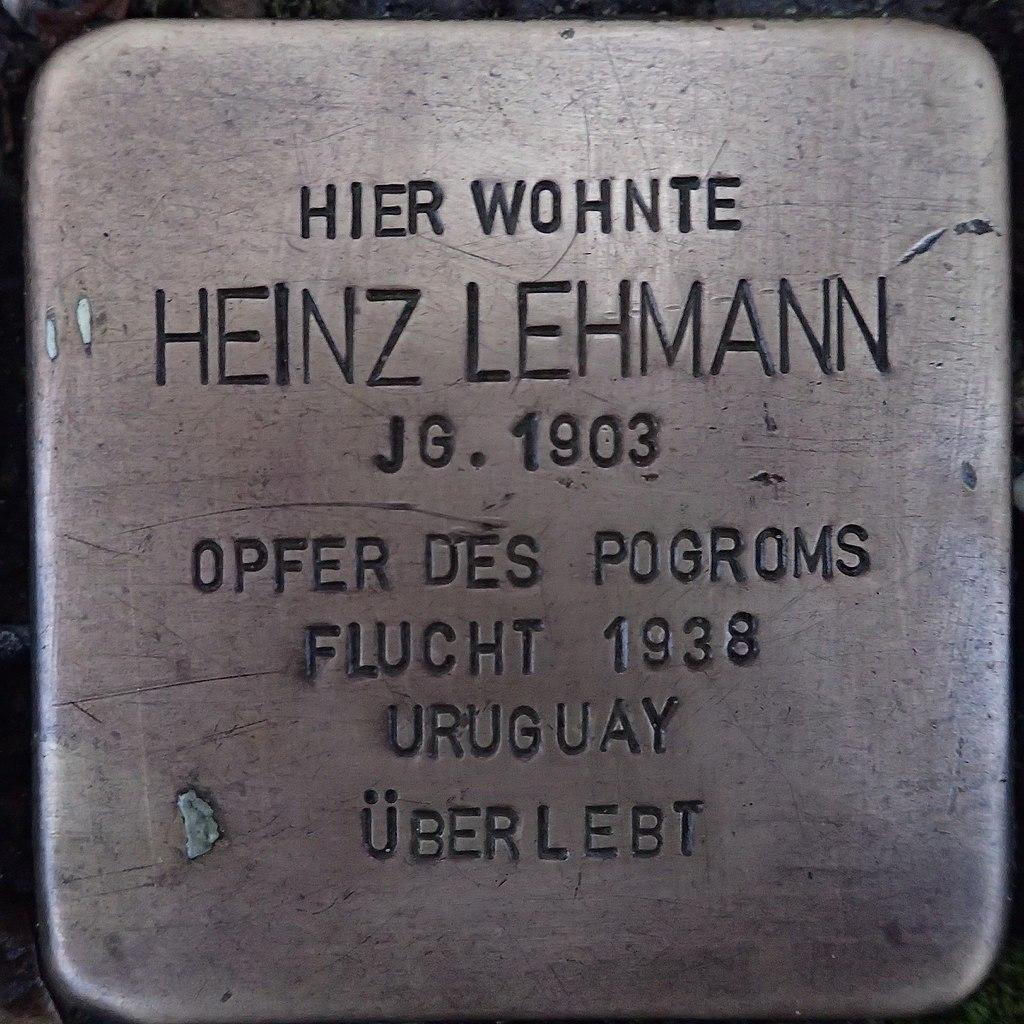 Stolperstein für Heinz Lehmann
