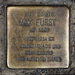 Photo of Max Fürst brass plaque
