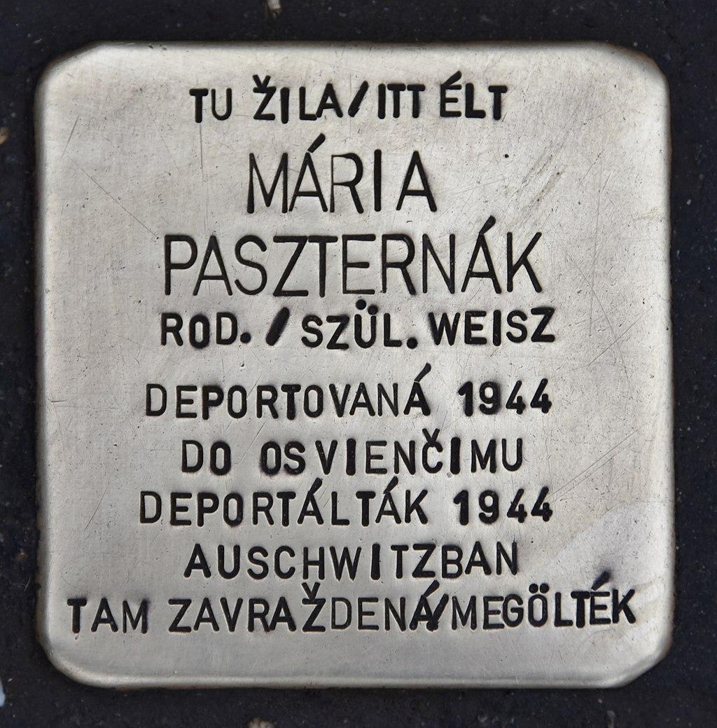 Stolperstein für Maria Paszternak.JPG