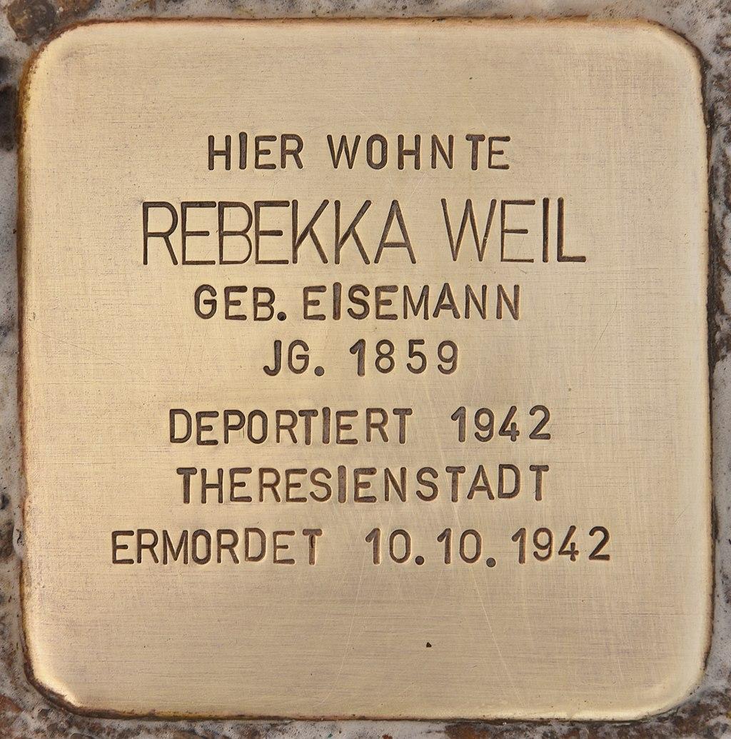 Stolperstein für Rebekka Weil (Mühlhausen in der Oberpfalz).jpg
