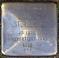 Stumbling stone for Jakob Sternlicht (Zwirner Straße 33)