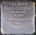 Stolpersteine Köln, Paula Kaufmann (Nußbaumerstraße 7).jpg