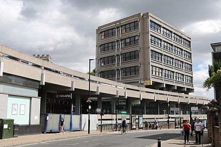 The 60s Brutalist-style Stonebow House is an example of modern architecture Stonebow House, York.jpg