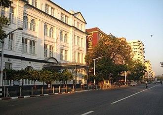 Strand Road, Yangon - Image: Strand Road riverfront 16
