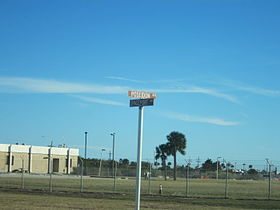 Street Sign at Poseidon Avenue and Spaceport Way in Cape Canaveral, Florida 001.jpg
