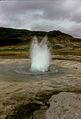 Strokkur, beginning of eruption, June 1974.jpg