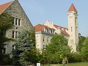 Franklin Hall (left) and Student Building (rig...