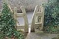 Stylish stile - pedestrian access to and from Shirenewton Churchyard - geograph.org.uk - 1123104.jpg