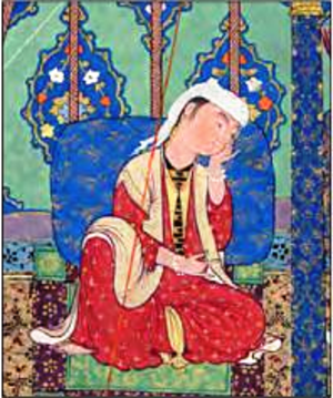 Sudabeh - painting of Sudabeh in The Shahnama of Shah Tahmasp