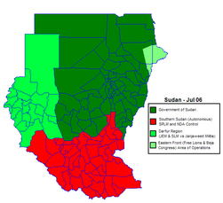 Sudan politicaly distrikt map Jul2006.png
