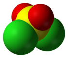 Ball-and-stick model of sulfuryl chloride