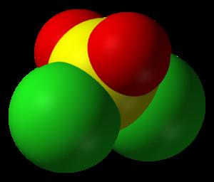 Sulfuryl chloride - Image: Sulfuryl chloride 3D vd W