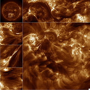 High Resolution Coronal Imager - Images of the Sun's million degree corona, including images of the magnetic braids (left hand side).